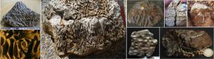 Regmaglyptische Gesteine vom Chiemgau-Impakt und vom Rubielos de la Cérida-Impakt, Spanien