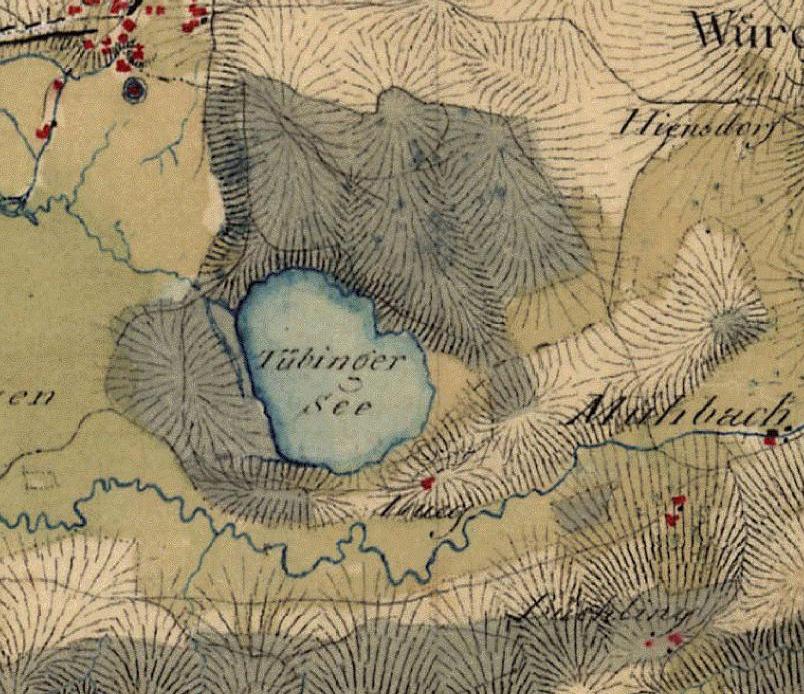 Tüttensee historische Karte Topographie Ringwall