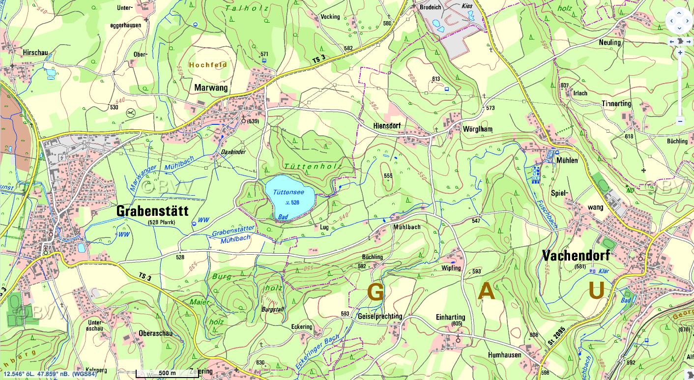 Chiemgau Impakt Tttensee Topographie  heute