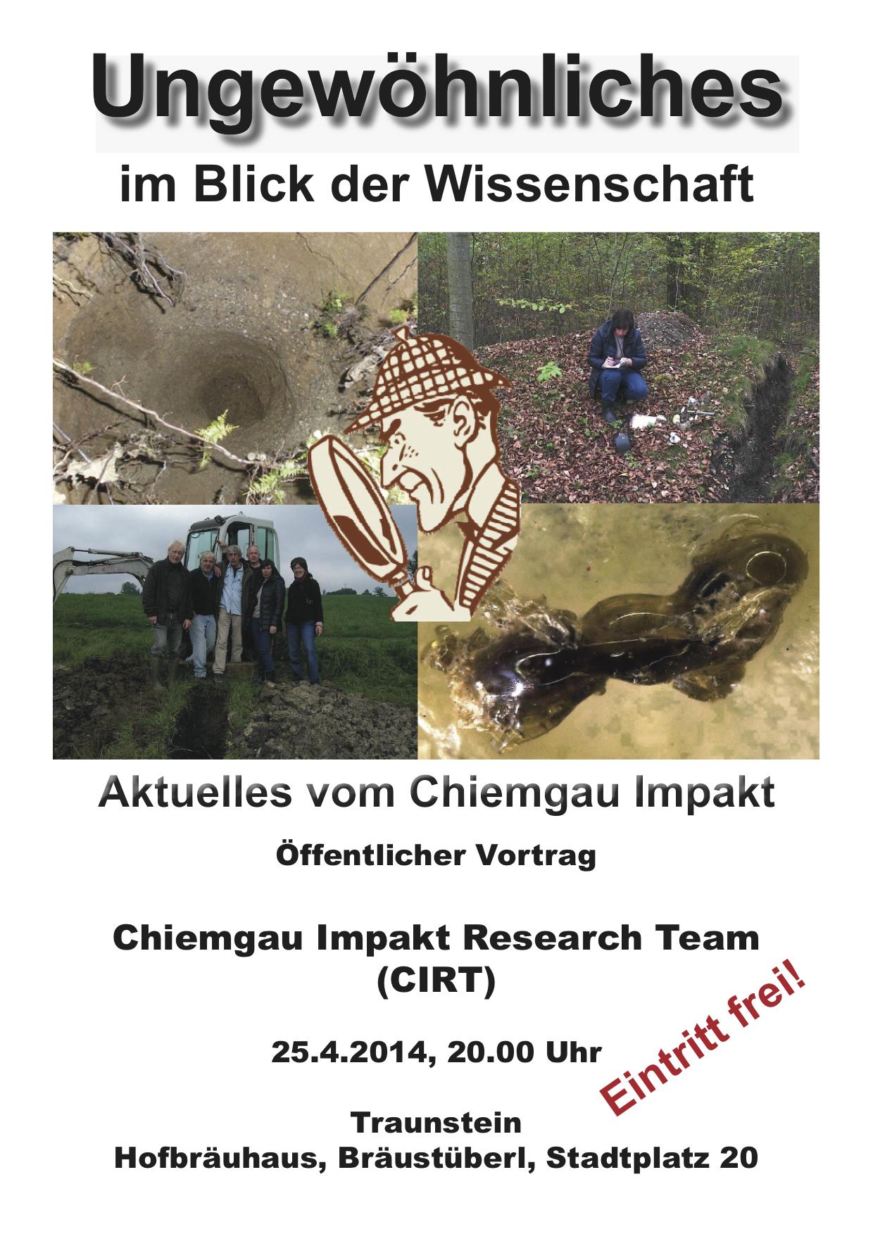 Plakat Chiemgau Jahresvortrag 2014