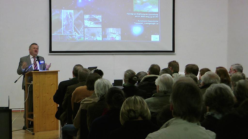 Chiemgau-Komet Eröffnung Ausstellung