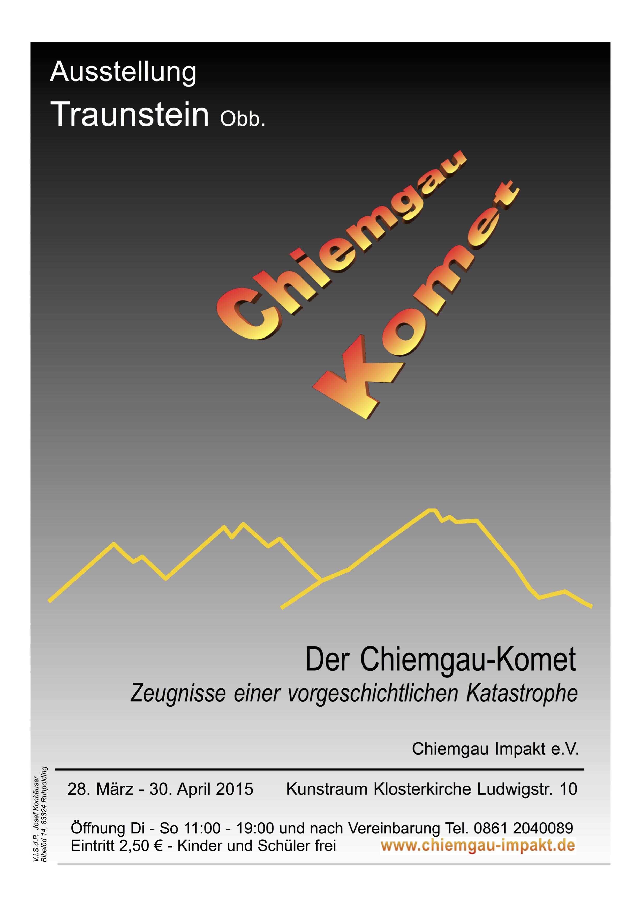 Plakat Ausstellung Traunstein Chiemgau-Komet