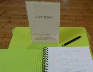 Gästebuch Chiemgau-Komet Ausstellung