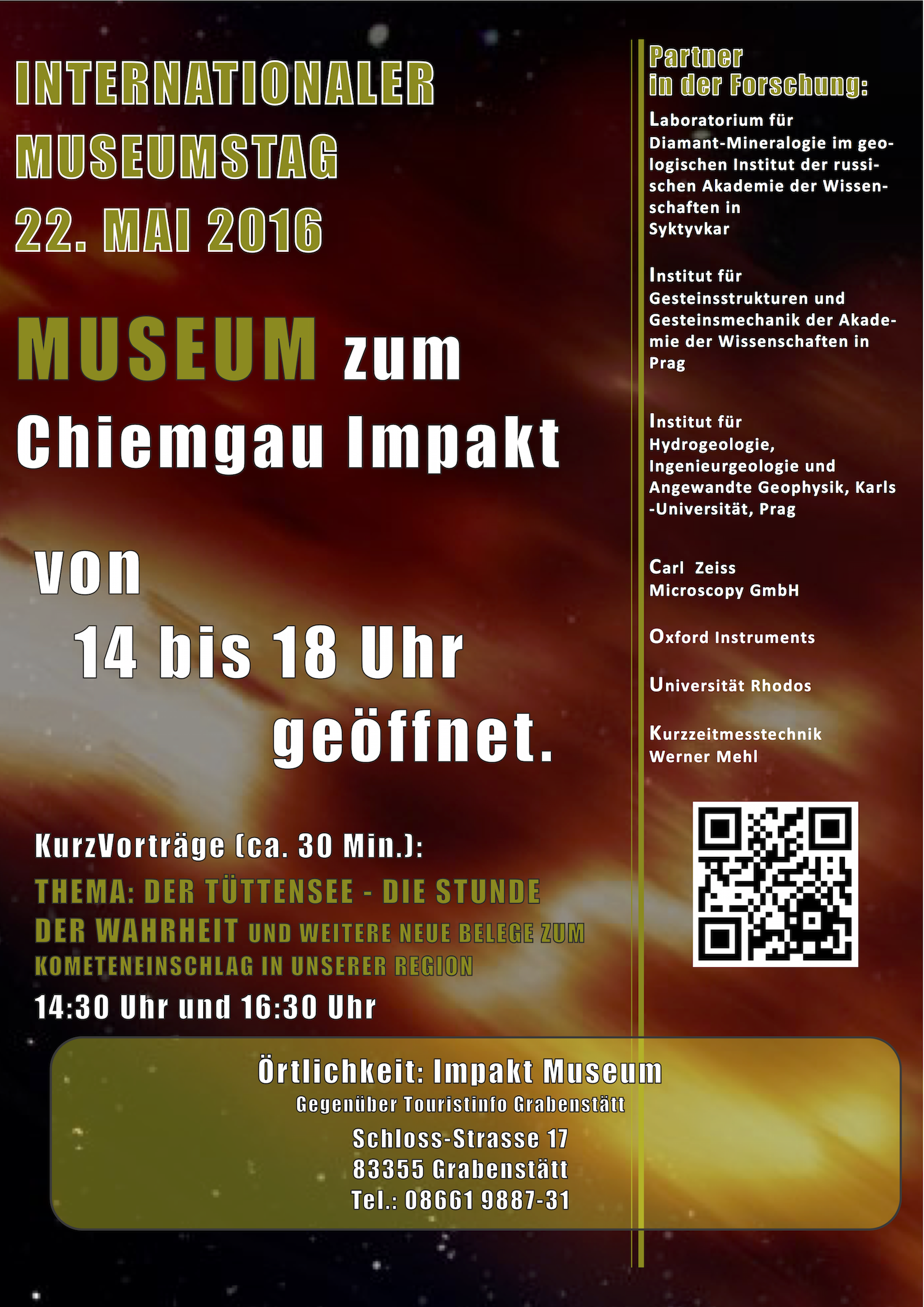 2016 - Poster Museumstag Chiemgau Impakt