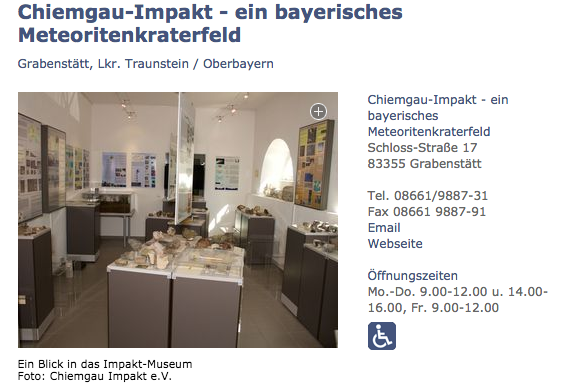 Impakt-Museum Grabenstätt Chiemgau-Impakt