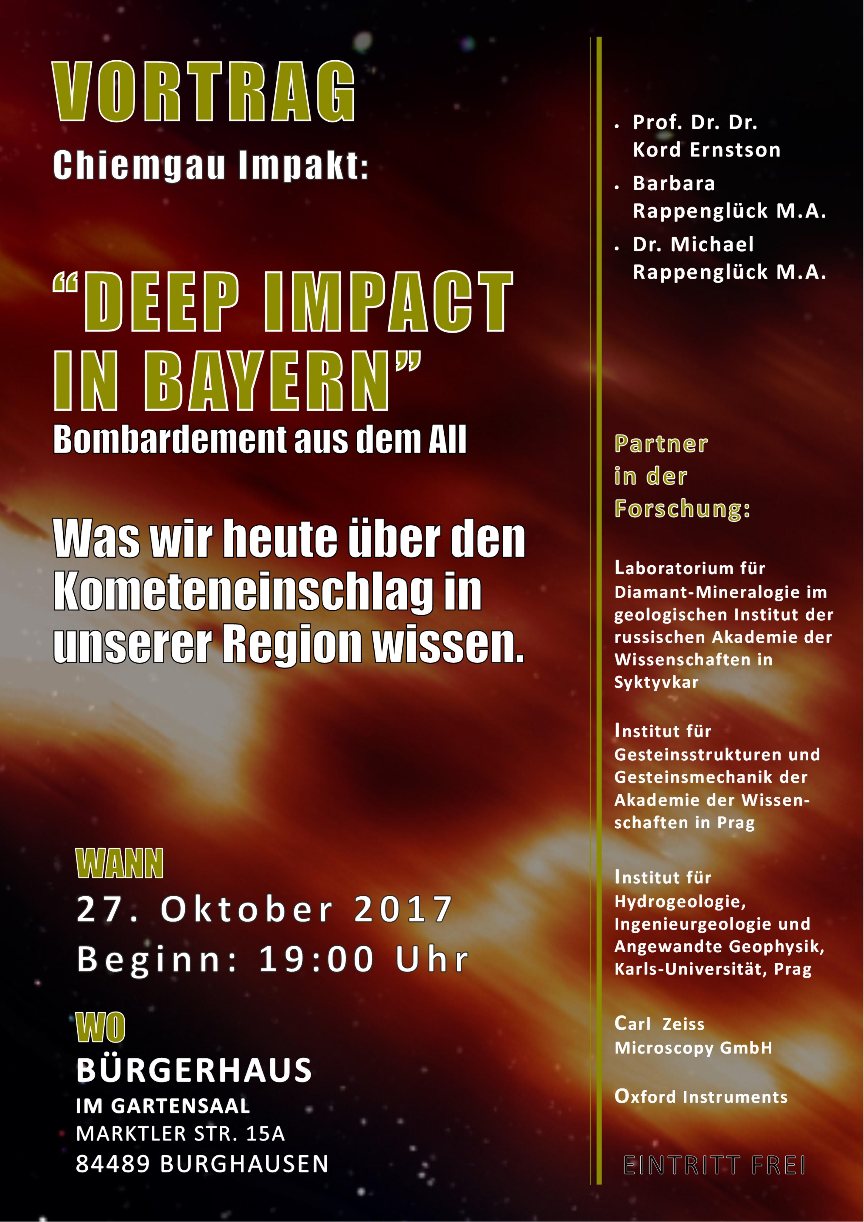 deep impact Burghausen Vortrag Chiemgau Impakt
