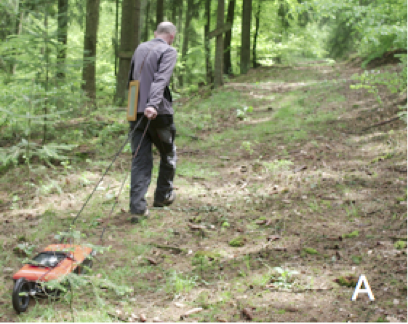 Bodenradar-Messungen über der geschockten Airburst Granit-Schmelzlage