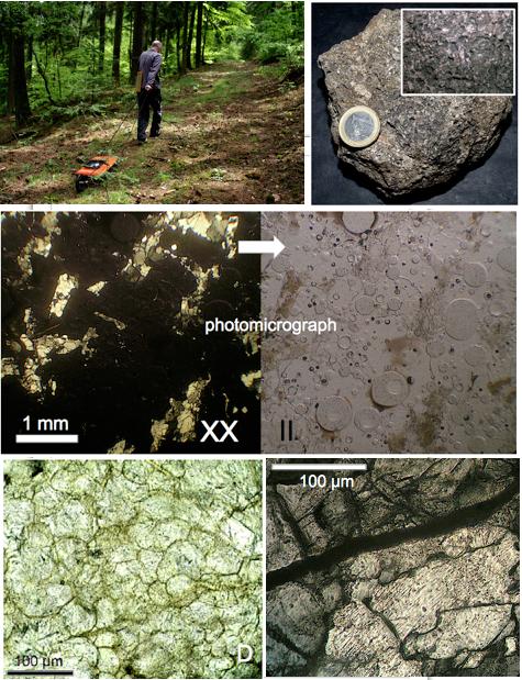 Granit-Schmelzgesteinsplatte Bach Schockeffekte