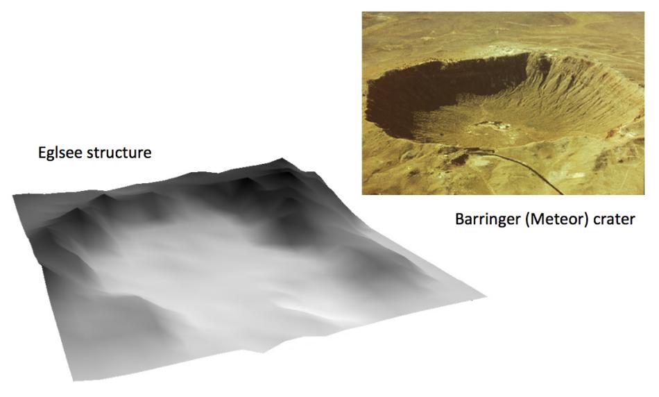 Eglsee-Krater und Barringer-Krater